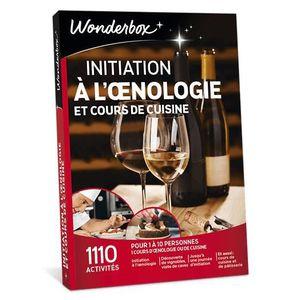 COFFRET OENOLOGIE Wonderbox - Idée cadeau - Initiation à l'œnologie