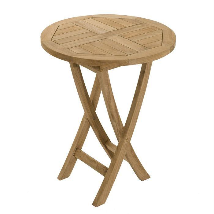 Table de jardin en bois ronde