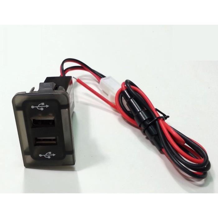 USB adaptateur-chargeur 12V pour VW GOLF/BORA IV 4 MK4 panneau fixation double