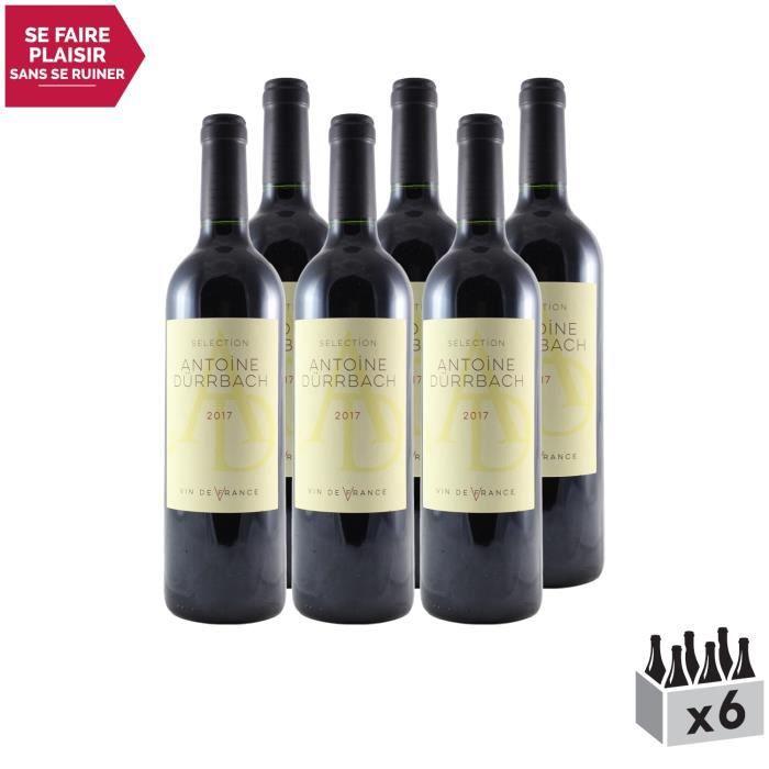 Sélection Antoine Dürbach Rouge 2017 - Lot de 6x75cl - Dauvergne - Ranvier - Appellation VDF Vin de France - Origine Vallée du