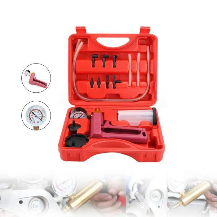 OUTILLAGE MATERIEL Kit de testeur de purge de frein à main Kit de purge Kit de pompe à vide de luxe HYX90523814_Lavi