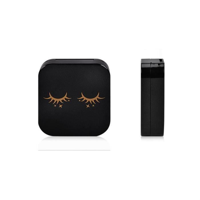 Acrylique mignon Cils magnétique Boîte de rangement Maquillage Miroir cosmétique Case Organisateur@ZZF80223612
