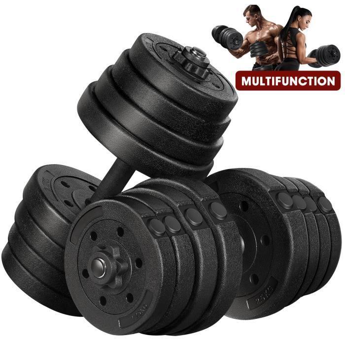 Lot d'haltères 30kg poids musculation -min