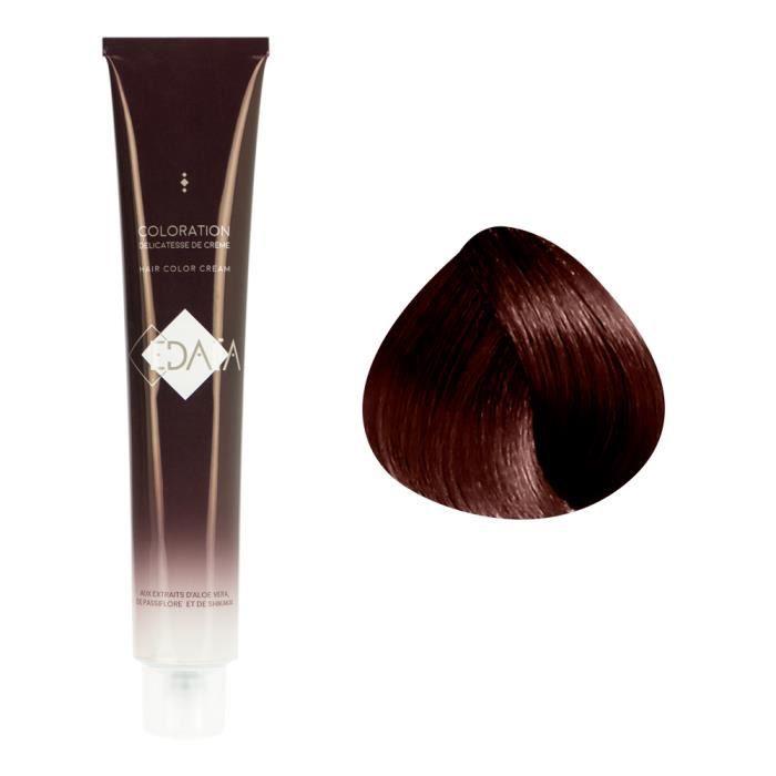 EDAÏA Coloration permanente 6/46 : Blond foncé cuivré rouge , Crème 100ml