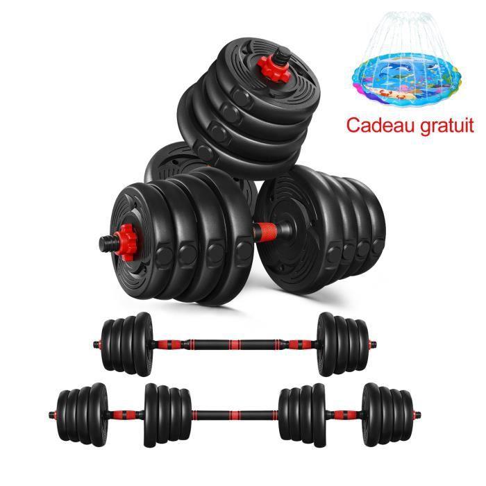2en1 ensemble d'haltères réglables haltères exercice équipement de Fitness fournitures de sport-30kg