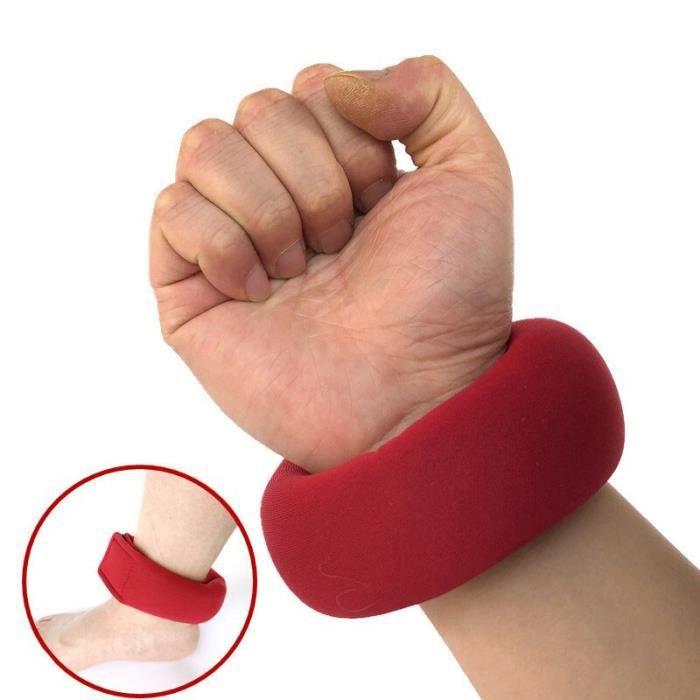 Gymnastique cheville poignet sac de sable poids sangles force réglable exercice d'entraînement Oxfor - Modèle: Rouge - HSJSZHA05242