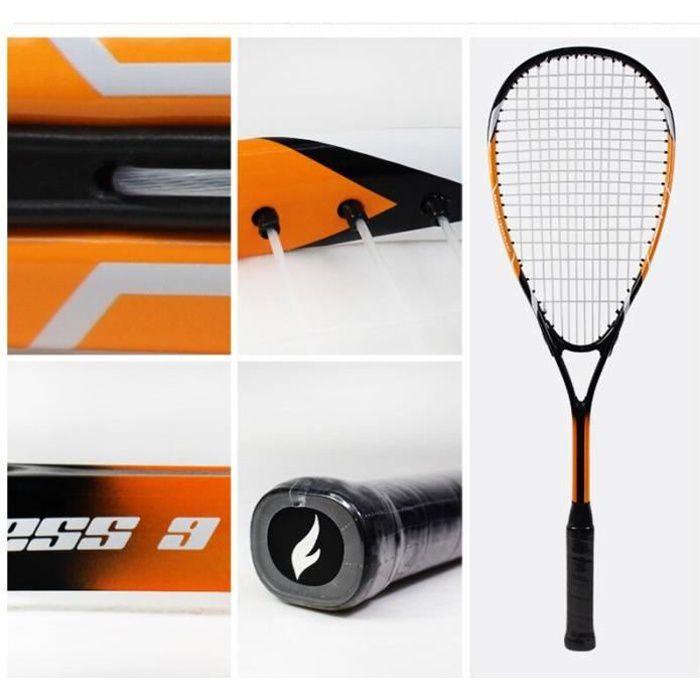 Raquette de Squash professionnelle en aluminium, avec Fiber de carbone, matériel pour l'entraînement, pour débutant, [75083EF]