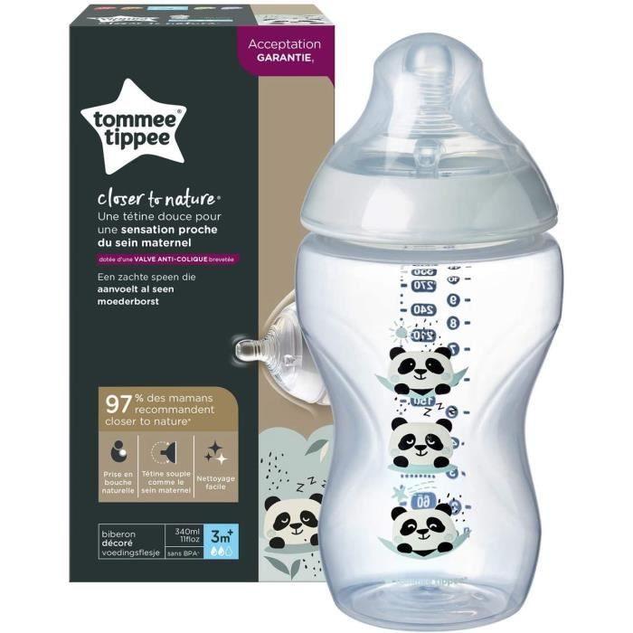 Tommee Tippee Biberon Closer to Nature, 340 ml, Pippo le Panda