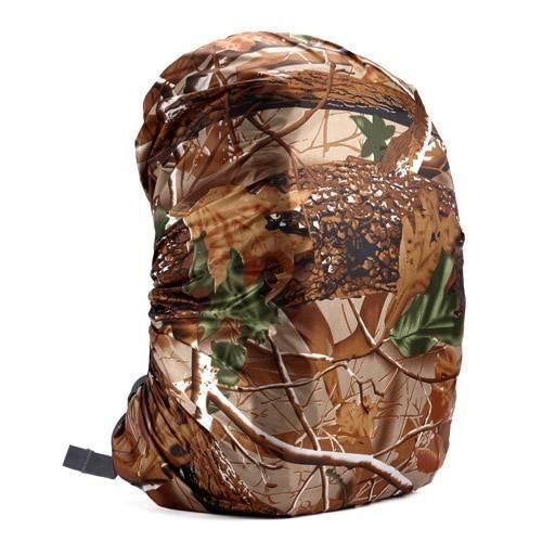 Leaves Cam-45L -Housse de protection anti poussière pour sac à dos 35L 40L 50L 60L, étanche, camouflage tactique, Camping en plein a