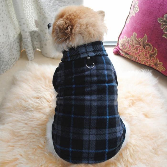 Manteau Blouson,Bouledogue vêtements d'hiver pour chiens Vêtements en polaire pour chiens, vêtements pour chiots, - Type Black-S