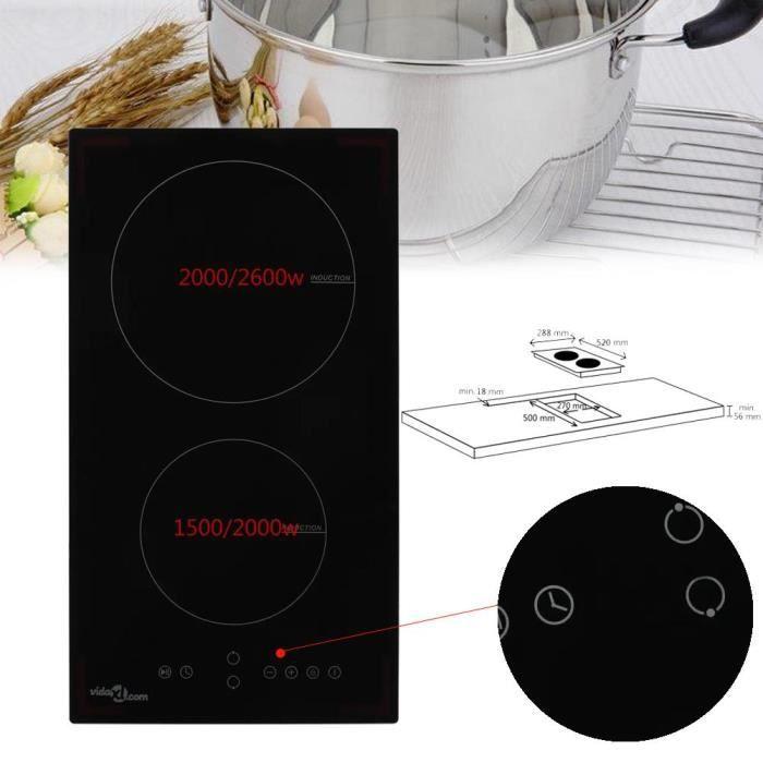 3500W Plaque de cuisson Induction - 2 Feux - Touch-Control - Minuteur - Sécurité enfants HB010