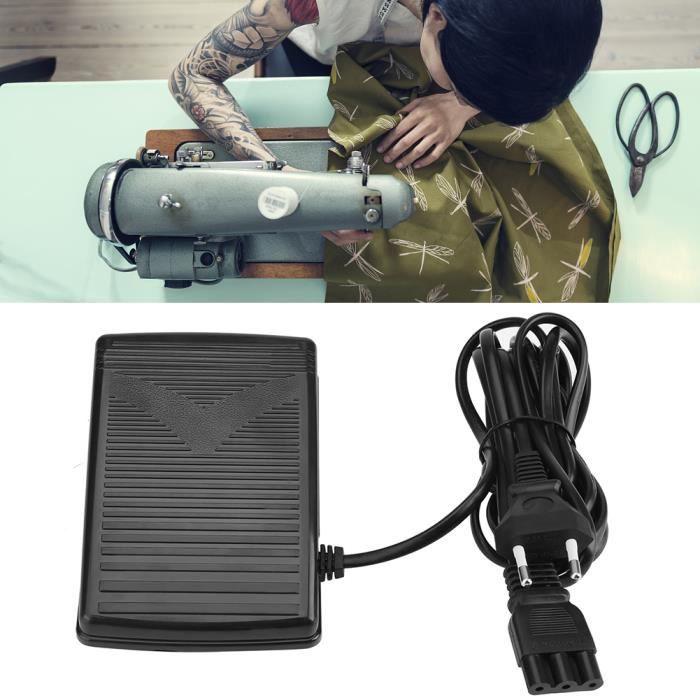 Accueil Machine à coudre - Pédale de commande avec cordon d'alimentation (EU Plug 220V) -BOT