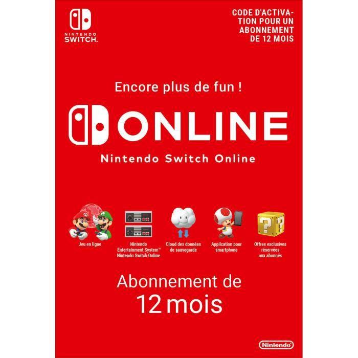 Abonnement Individuel de 12 mois au service Nintendo Switch Online - Code de Téléchargement pour Nintendo Switch