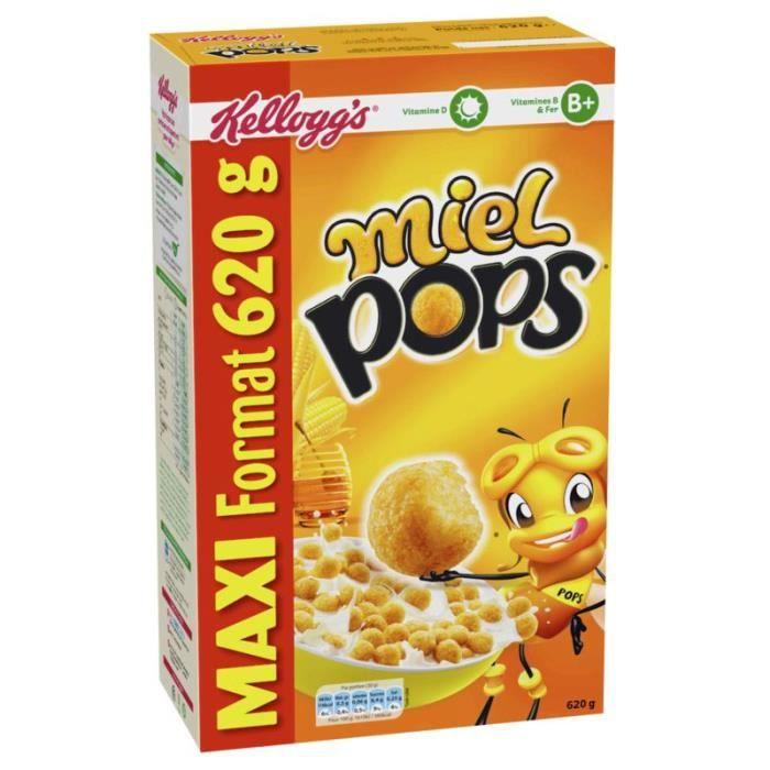 KELLOGG'S Céréales Miel pops - 620 g