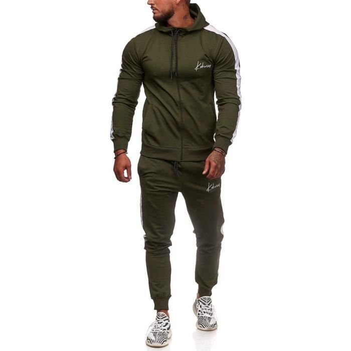 Ensemble jogging homme Survêtement 3392 vert S