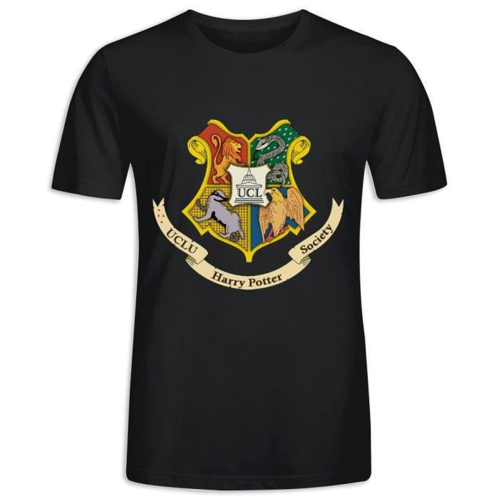 Tee Shirt avec imprimé en UCL Harry Potter Society Clubs Manche Courte T-shirt Homme