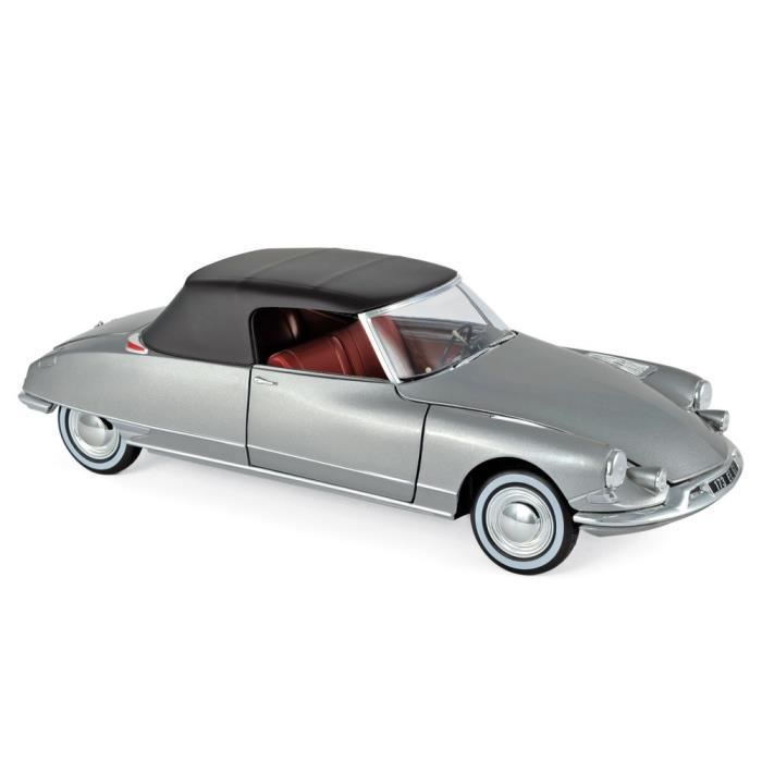 Miniatures montées - Citroen DS 19 cabriolet gris perlé - Chapron 1961 1/18 Norev