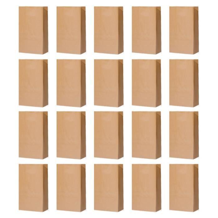 20 pièces sacs en papier Kraft de rangement pour réfrigérateur de pain de cuisson en épaissi pour dortoir SAC PLASTIQUE - CABAS
