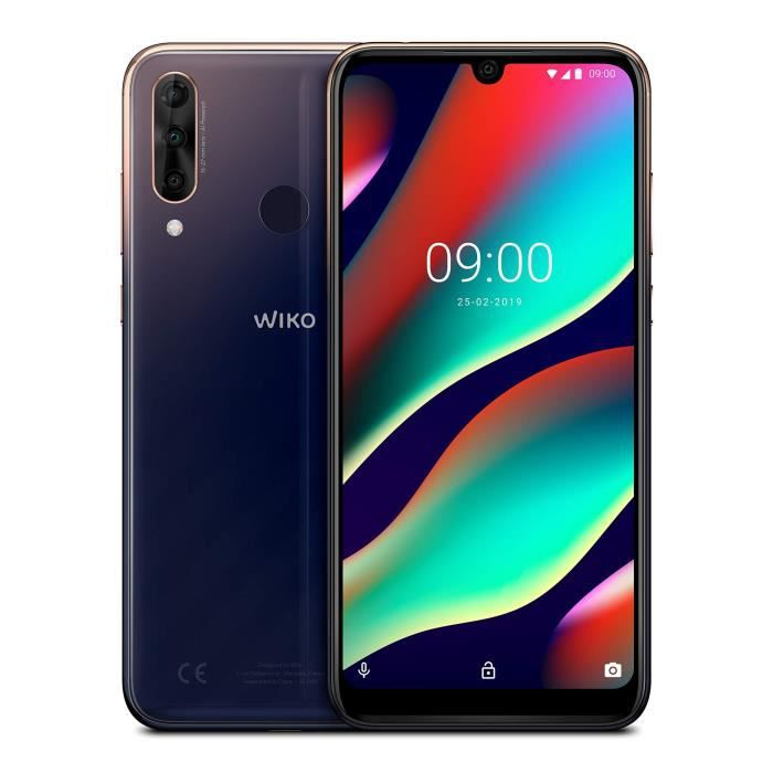 Wiko View3 Pro Smartphone débloqué 4G (Ecran 6, 3 Pouces - 4 Go RAM - 64 Go Stockage - Double Nano-SIM - Android 9 Pie) Nightfall +