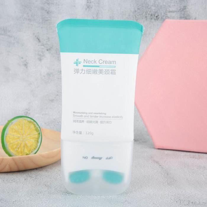 QN11261-Cikonielf crème éclaircissante pour le cou Crème Éclaircissante Cou Tenseur Hydratant Anti-Rides Rouleau Massage Crème Cou