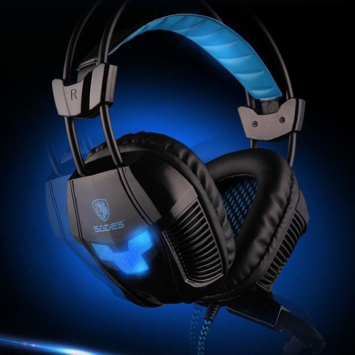 sades a30 usb casque gaming avec micro pour pc casque. Black Bedroom Furniture Sets. Home Design Ideas