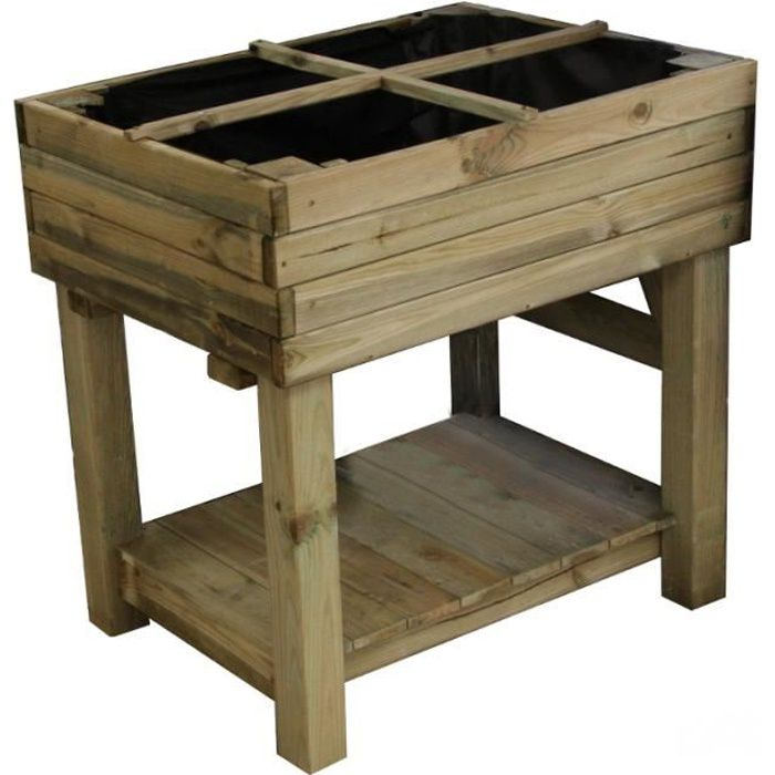potager sur pied en bois achat vente carr potager. Black Bedroom Furniture Sets. Home Design Ideas