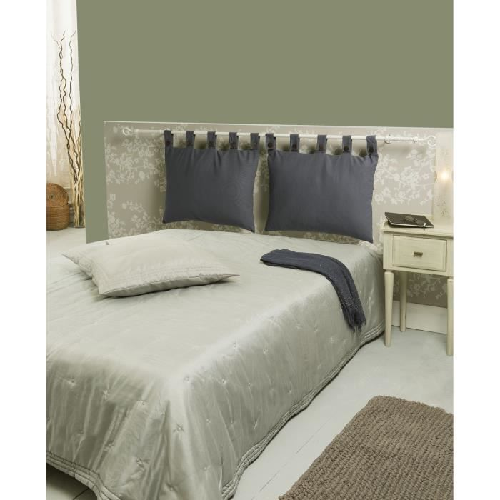 t te de lit d houssable gris 50x70cm achat vente coussin cdiscount. Black Bedroom Furniture Sets. Home Design Ideas