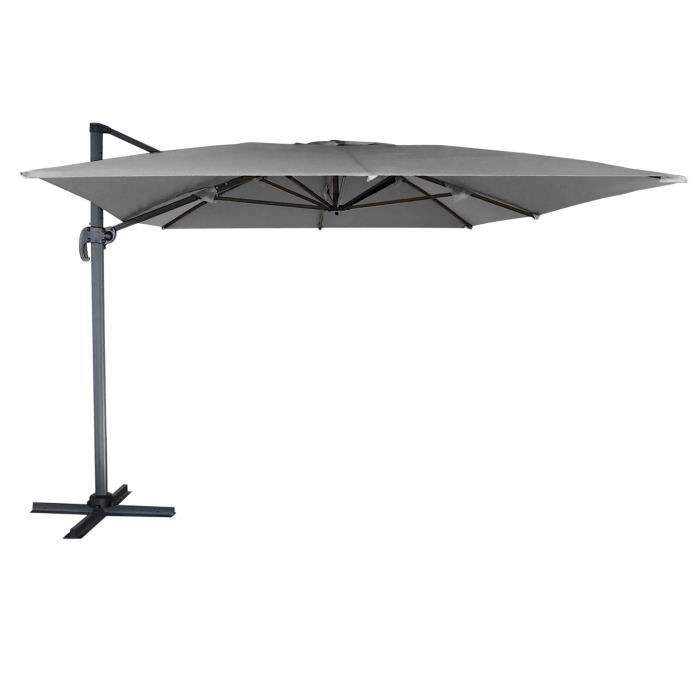 parasol d port molokai rectangulaire 3x4m gris m t gris achat vente parasol parasol. Black Bedroom Furniture Sets. Home Design Ideas