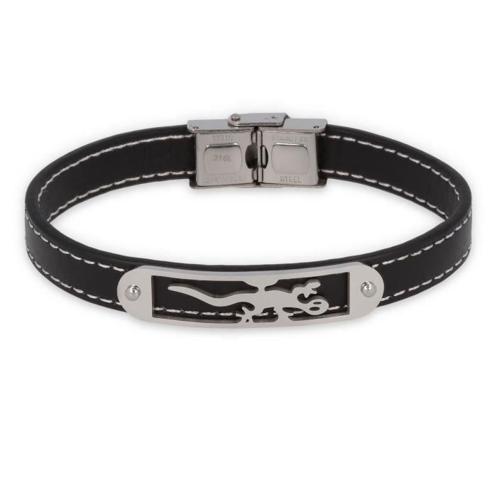bracelet cuir 10 mm