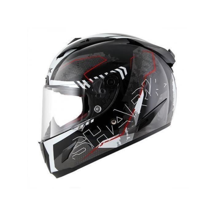 casque shark race r pro cintas noir et rouge achat vente casque moto scooter casque shark. Black Bedroom Furniture Sets. Home Design Ideas