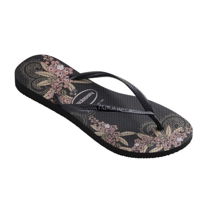 Tong Havaianas H.Slim Organic Black /Dark Grey