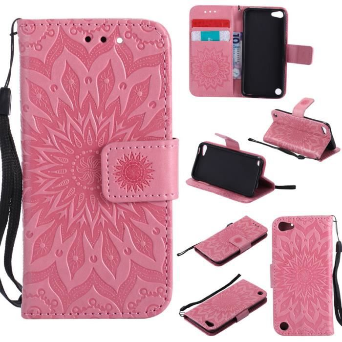 Housse etui folio portefeuille ipod touch 6 ipod touch 5 for Housse ipod touch