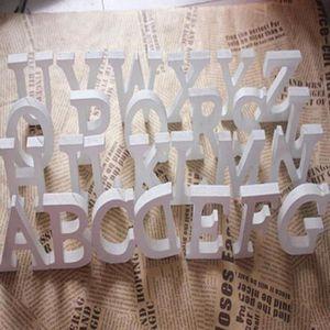 OBJET DÉCORATIF Bois Lettres en bois blanc Alphabet de fête d'anni