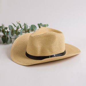 CHAPEAU - BOB Chapeau Cowboy Paille Homme Femme Cool