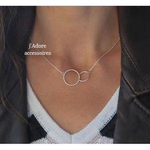 collier femme deux cercles