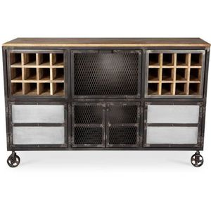 bahut buffet industriel achat vente bahut buffet industriel pas cher cdiscount. Black Bedroom Furniture Sets. Home Design Ideas