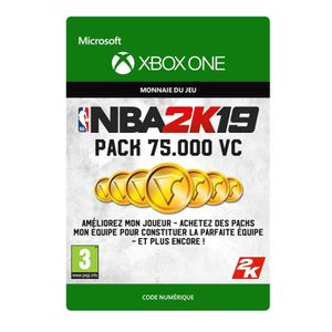 EXTENSION - CODE DLC NBA 2K19 : 75 000 VC pour Xbox One