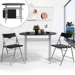 TABLE À MANGER COMPLÈTE Ensemble Table à Manger avec 2 chaises de Salle à