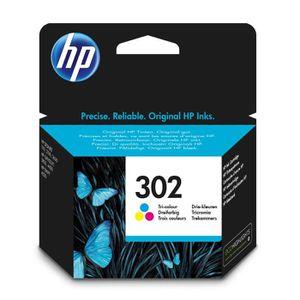 CARTOUCHE IMPRIMANTE HP 302 cartouche d'encre trois couleurs, Cyan, Mag