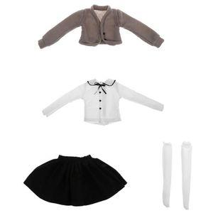 POUPÉE POUPEE 1 ensemble de vêtements BJD (manteau pull +