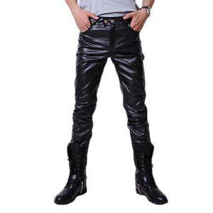 PANTALON Pantalon En Cuir Loisir&Plein Air Pu Motocyclette