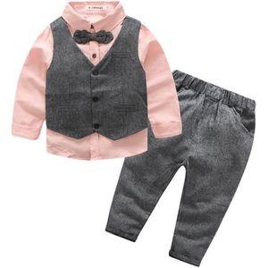 COSTUME - TAILLEUR Ensemble de Vêtement Costume Enfant Bébé Garçon 3p