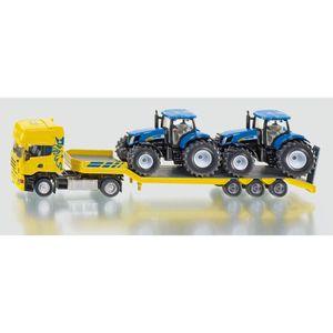 VOITURE - CAMION Siku - Camion avec Tracteurs New Holland 1/50eme