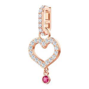 Charm's Charm Swarovski Heart rose
