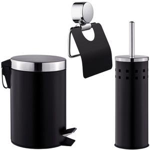 SET ACCESSOIRES TECTAKE Set de Salle de Bain, Toilettes Design 3 P