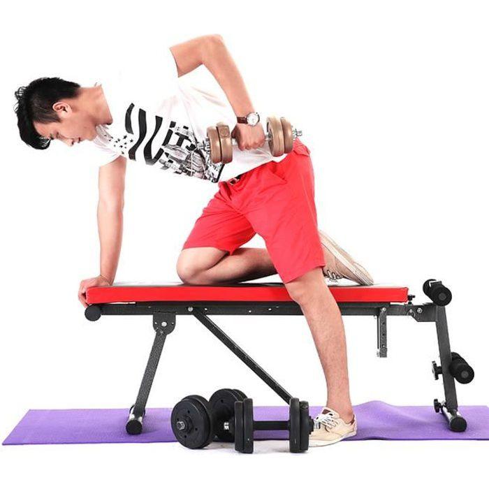 Bilingda® Banc de Musculation Pliable inclinable - Banc haltérophilie - Banc muscu - Banc Abdo