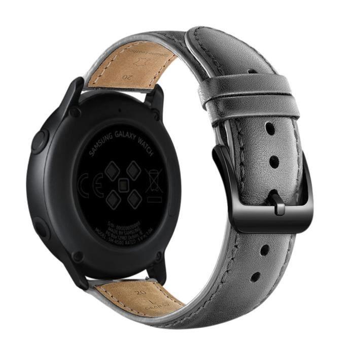 MONTRE OUTDOOR Bracelet de montre de remplacement en cuir pour Samsung Galaxy Watch active 20mm bg1429 SDF1429