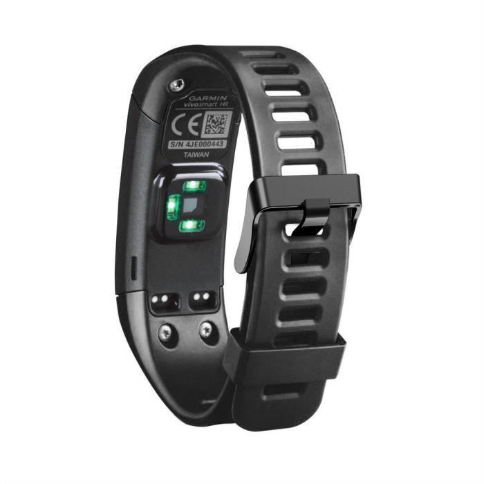bracelet de montre vendu seul Nouveau bracelet en silicone souple de remplacement pour Garmin Vivosmart HR LIY70922002BK_wat