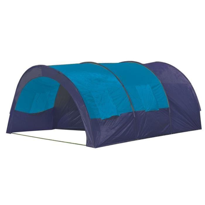 Tente de camping 6 personnes Bleu foncé et Bleu