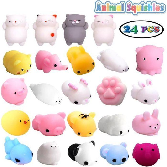 Lot de 24 mini jouets mochi squishy(24 pack navire au hasard))